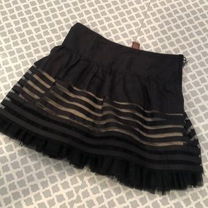 Free People Mini Skirt with Tulle detail